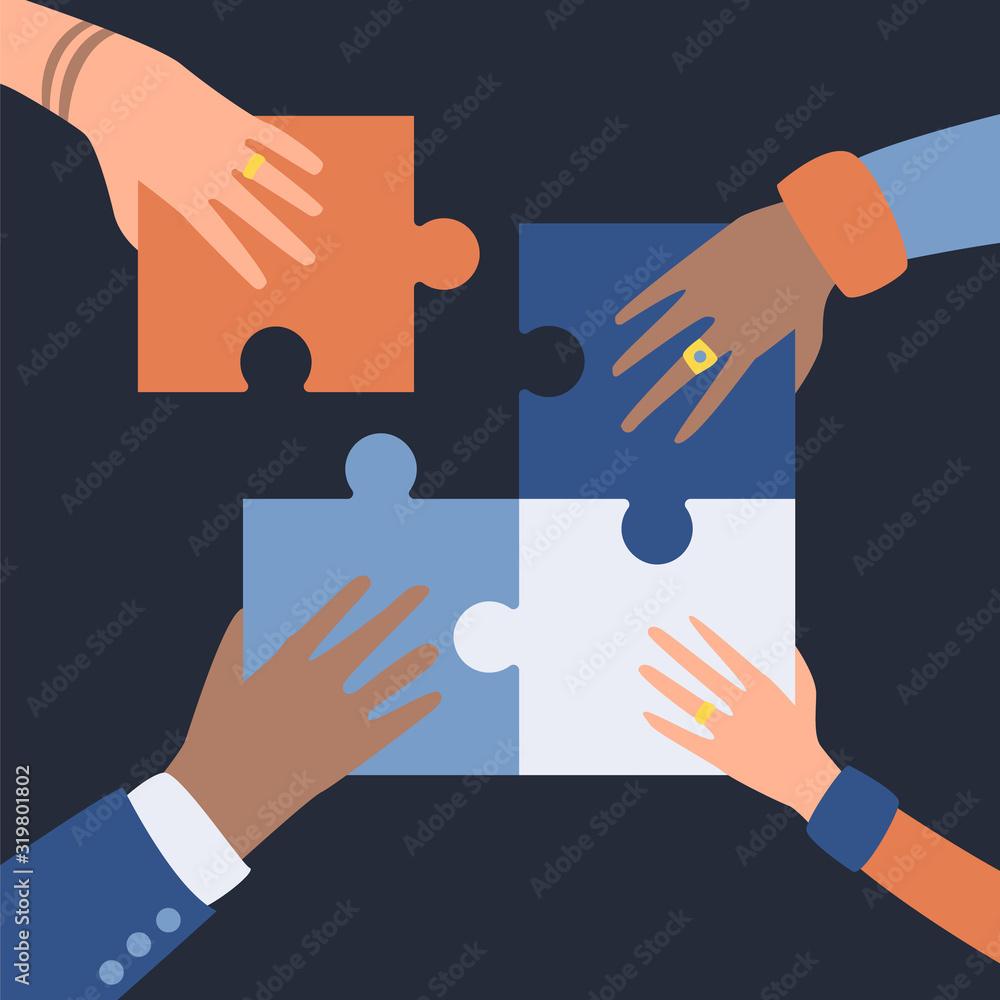 Fototapeta Illustraton for teamwork managment.