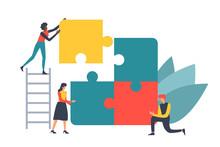 Puzzle Teamwork Concept Illust...