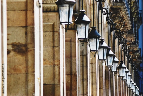 Row Of Street Lights On Colonnade Fototapet