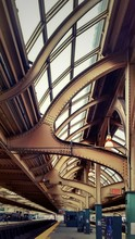 Low Angle View Of Railroad Station Ceiling