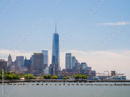 One World Trade Center Amidst Modern Buildings Against Sky Wallpaper Mural
