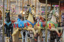 Colorful Vintage Merry-go-roun...