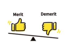 メリットとデメリットの天秤イメージ