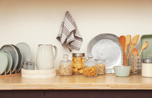Wooden Countertop With Dishwar...