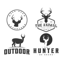 Deer Hunter And Adventure Logo  Icon And Illustration