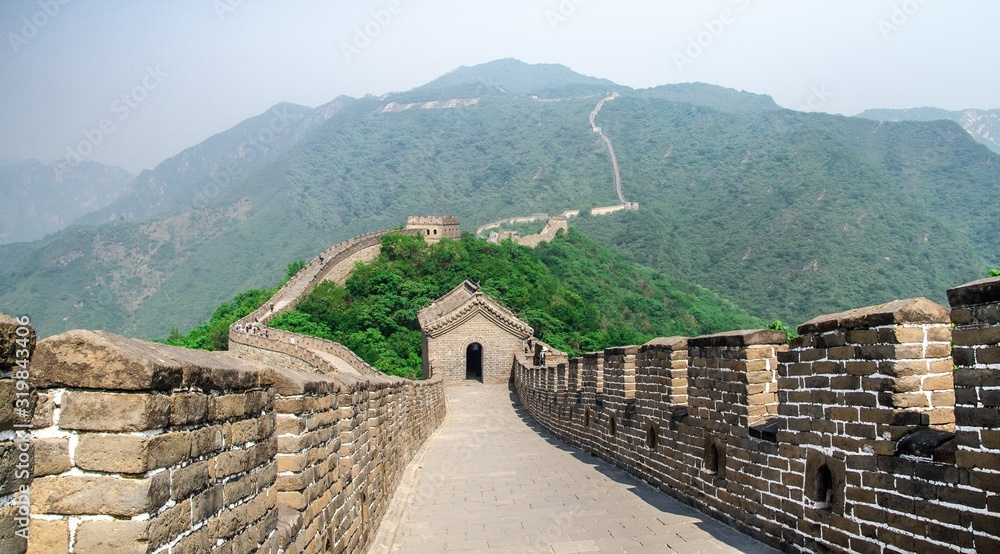 Fotografie, Obraz Great Wall Of China On Mountain