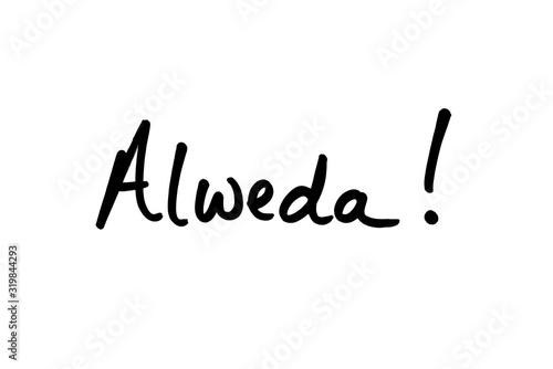 Vászonkép Alweda - the Punjabi word for Goodbye