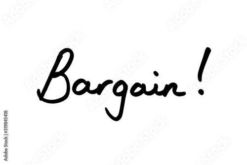 Bargain! Canvas Print