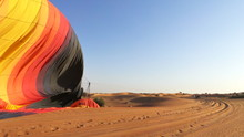 Cropped Parachute On Desert