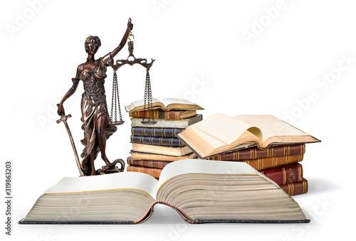Photo Antique Statue of justice