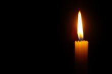Bright Orange Glowing Candle O...