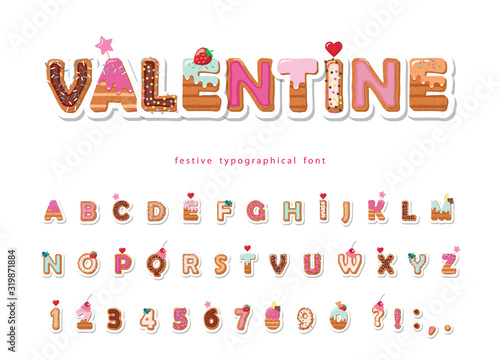 Valentine sweet font Canvas Print