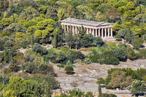 Canvas Print Temple of Hephaestus in Athens in Greece
