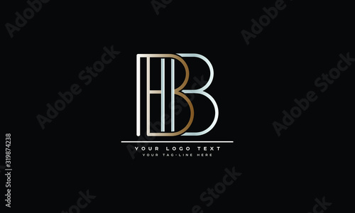 Photo B ,BB  Letter Logo Design with Creative Modern Trendy Typography