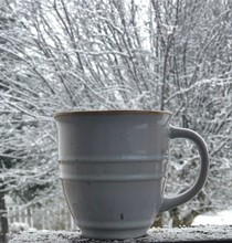 Close Up View Of Hot Coffee In...
