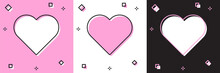 Set Heart Icon Isolated On Pin...