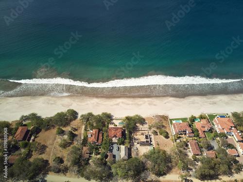 Residential deistrict on beachfront Canvas Print