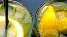 Close-Up Of Fresh Lemonade
