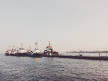 Tugboats In Harbor