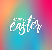 Happy Easter Calligraphy Text ...