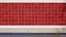 Red Tile Wall At Subway