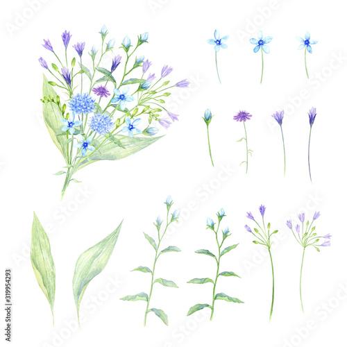 Fotomural 花束 花素材セット