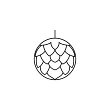 Simple Hops Flower For Beer Brewing Icon Vector