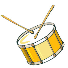 Hand Drawn Vector Color Snare ...