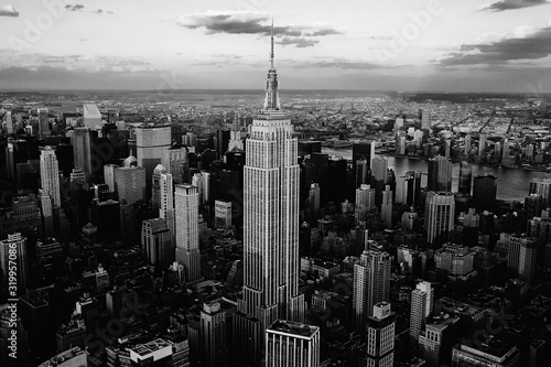 Fotografering empire state building in new york city