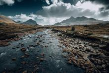 Foggy Rocky River Of The Sliga...