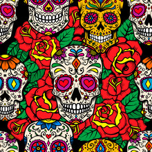 Seamless Pattern With Mexican ...
