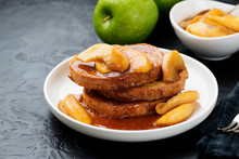 French Toast With Caramel Appl...