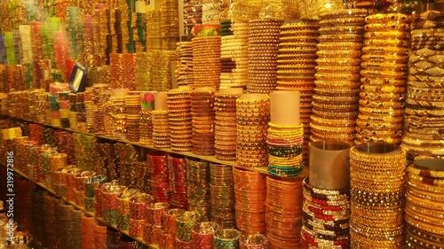 Fototapety, obrazy: Full Frame Of Bangles At Shop