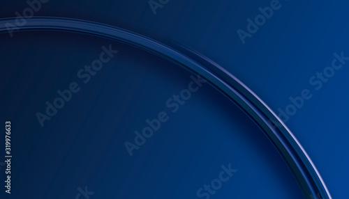 Obraz na plátně Banner para diseño y página web azul y con degradado y esfera