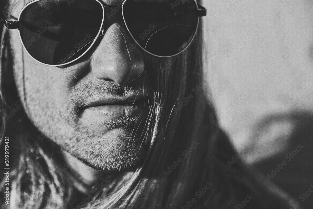Fototapeta Close-Up Of Man Wearing Sunglasses