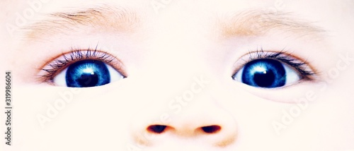 Obraz Cropped image of baby eyes - fototapety do salonu