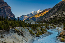 Evening Mountain Landscape In ...