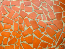 Full Frame Shot Of Red Tiled Floor