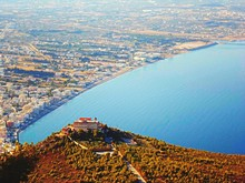 Aerial View Of Loutraki By Sea