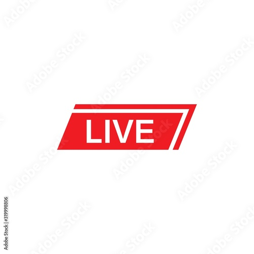 Photo vector set of live streaming icon multimedia logo