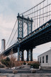 The Manhattan Bridge from the Brooklyn sight in DUMBO I