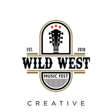 Wild West Logo Design Vector