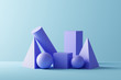 canvas print picture - Geometric shapes - 3D Rendering