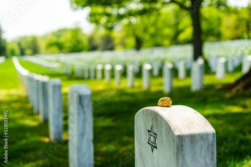 View Of Gravestones At Cemetery Fototapet
