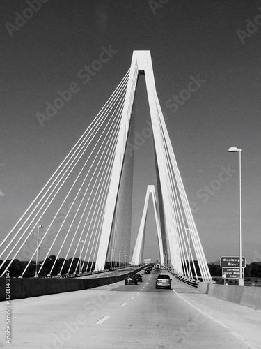 Fotografie, Obraz VIEW OF SUSPENSION BRIDGE