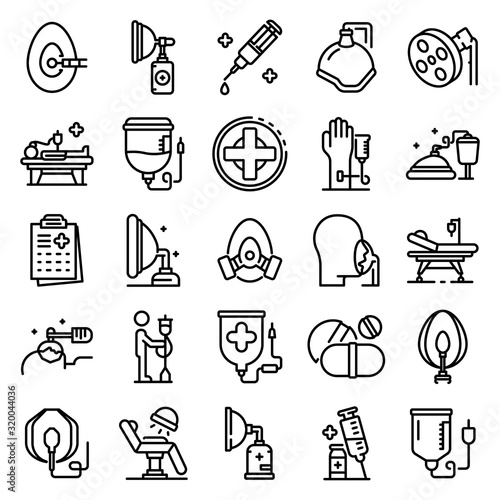 Photo Anesthesia icons set