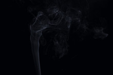 Close Up Of Smoke Against Black Background