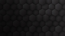 3D Hexagon Pattern Dark Gray A...