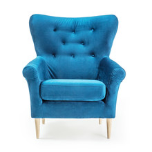 Turquoise Arm Chair Isolated O...