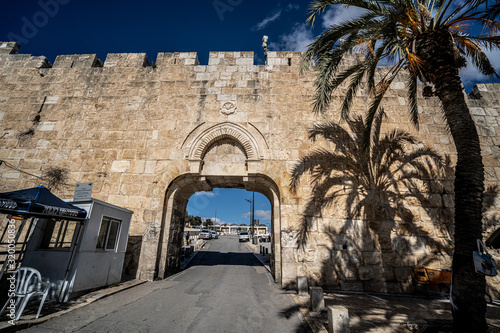 Stampa su Tela Dung Gate in Jerusalem. Israel. Entrance to the Wailing Wall